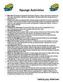 Quick and Easy Sponge Activities