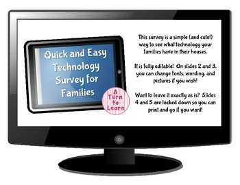 Quick and Easy Technology Survey for Families!