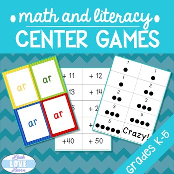 Quick and Easy Math and Literacy Center Games
