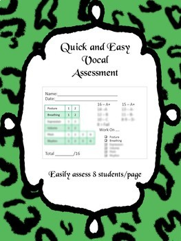 Vocal Assessment Template - Quick and Easy