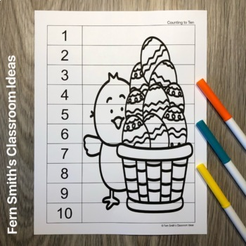 Quick and Easy to Prep Counting Puzzles for Easter