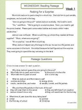 Quick and Simple 3rd Grade Test Prep