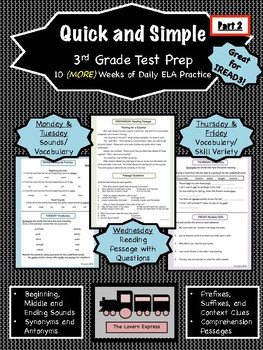 Quick and Simple 3rd Grade Test Prep Part 2