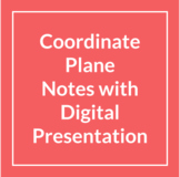 Quick and Simple Coordinate Plane Notes and Presentation