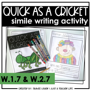 Quick as a Cricket - Simile Writing Activity