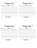 Quick notes forms: Thank you & From the desk of...