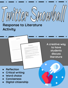 """Twitter"" Snowball activity; quick activity for any short story or novel"