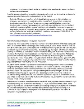 QuickGuide to Competitive Integrated Employment