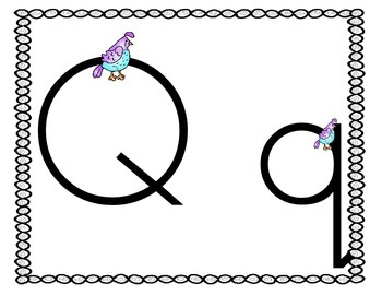 Quickly and Quietly Learning about Letter Qq:  Qq Activities