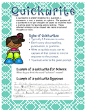 Quickwrite Anchor Chart