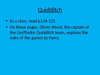 Quidditch - Reading Revision