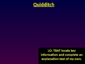 Quidditch - Reading Revision