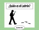 Quién es el ladrón: a fun, mysterious Spanish speaking activity
