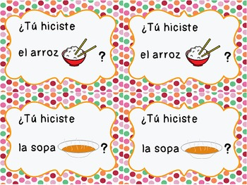 "Quien hizo eso? {2 Whole Class Games to Practice ""Hacer"" in the Past Tense}"