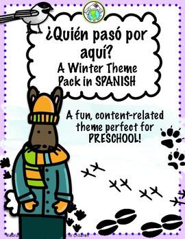 Quién pasó por aquí Winter Animals Theme Pack for Preschool Spanish