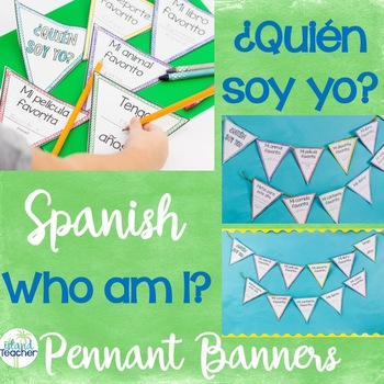 Spanish Who am I? Pennant Banner Activity