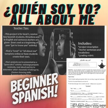 Quien soy yo level 1 Spanish intro project