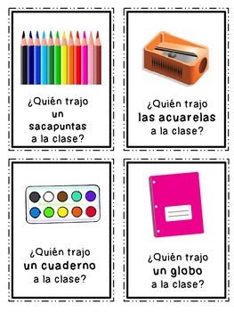 """""""Quien trajo...?"""" {2 Whole Class Games to Practice """"traer"""" in the Past Tense}"""