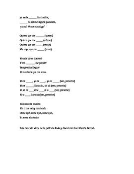 Quiero Que Me Quieras - Subjunctive activity