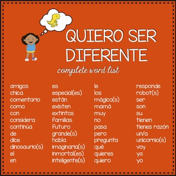 Quiero ser diferente Spanish storybook
