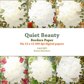 Quiet Beauty Borders Printable Digital Paper