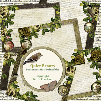 Quiet Beauty PowerPoint Presentation and Digital Printable Files