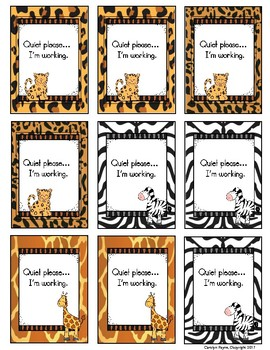 Classroom Management:  Quiet Cards