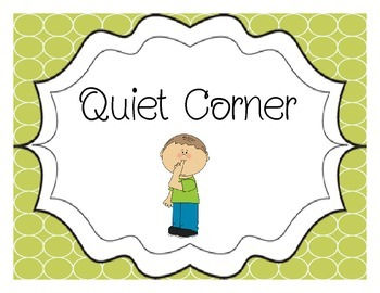Quiet Corner/ Time Out