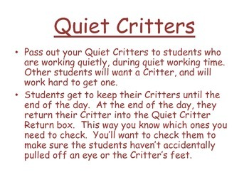 Quiet Critter Box Labels