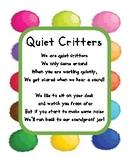 Quiet Critter Poem Label for Jar