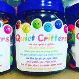 Quiet Critters Jar Label