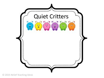 Quiet Critters Label