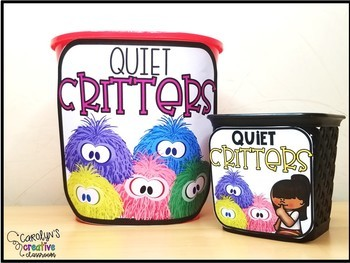 Quiet Critters Labels - Classroom Management Tool for Noise Level