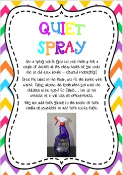 Quiet Critters & Quiet Spray Labels and Instructions
