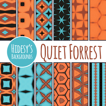 Quiet Forrest Digital Papers / Backgrounds Clip Art Set for Commercial Use