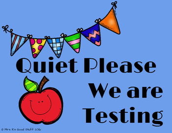 Quiet Please Classroom Door Signs