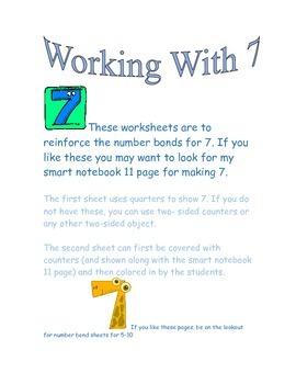 Number Bonds for 7