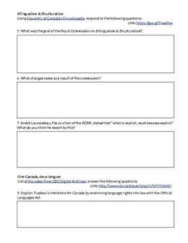 Quiet Revolution & Canada's Response (Print & Go Worksheet)