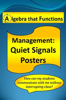 Classroom Management Quiet Signal Posters to get Teacher's Attention