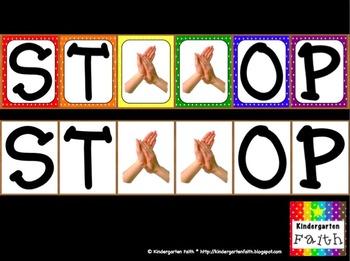 Quiet Signal, STOP Poster Classroom Management