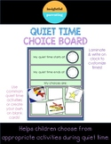 Quiet Time Choice Board