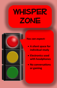 Quiet Zones (Library/Learning Commons) - RED LIGHT
