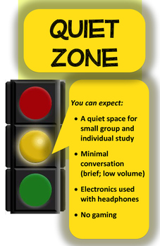 Quiet Zones (Library/Learning Commons) - YELLOW LIGHT