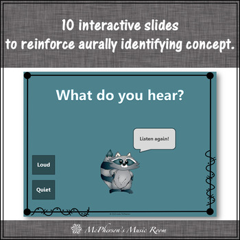 Dynamics: Quiet or Loud ~ Music Opposite Interactive Music Game {raccoon}