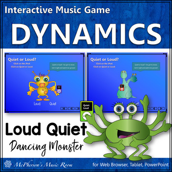 Music Dynamics Loud Quiet ~ Interactive Music Game {Dancing Monster}