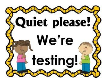 Quiet please! We're testing! sign FREEBIE