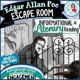 Edgar Allan Poe Escape Room for BreakOut Groups Grades 8-12 ELA - Editable