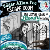 Edgar Allan Poe Escape Room for BreakOut Groups Grades 8-12, Great for Halloween