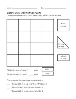 Quilt Design Fractions - Halves and Wholes
