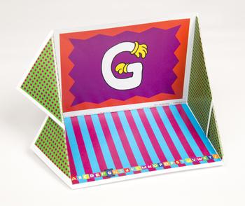 Quilt Hand Alphabet Display Case: G